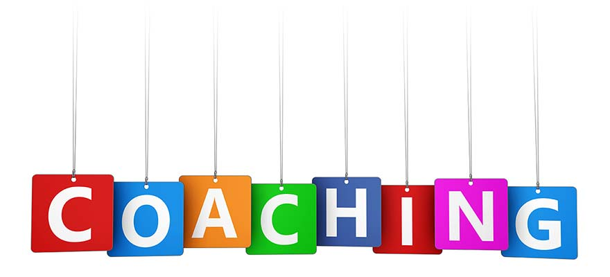 Letters forming the word Coaching